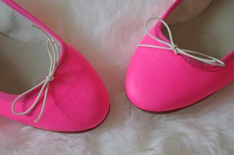 newstuff ballerines Anniel rose fluo