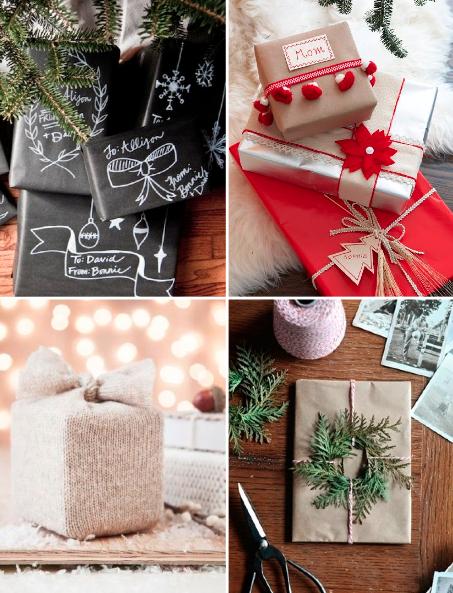 Emballer des cadeaux de Noël de façon originale
