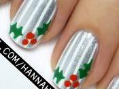 Christmas Holly Nail