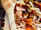 Salade festive légumes racines noix caramélisées Festive Salad Root Vegetables with Caramelized Nuts