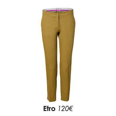 Pantalon femme droit jaune moutarde