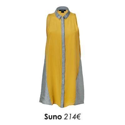 Robe chemisejaune moutarde