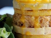 Foie gras, mangue rôtie pain d'épices mille-feuille coulis mangue-passion