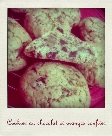 L'Avent des Gourmands #21 : Cookies au chocolat et oranges confites