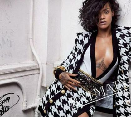 Rihanna Balmain SS14