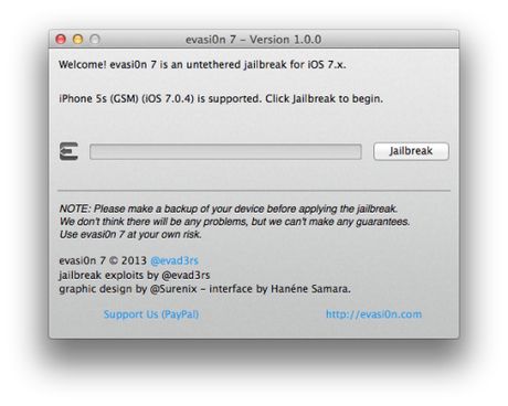 Jailbreak ios 7 pour iPhone 5s iphone 4s et iphone 4