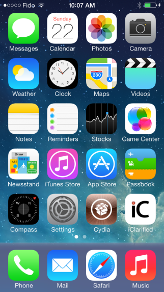 Jailbreak officiel d'iOS 7 sur iPhone 4s iPhone 5s