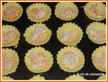 mini quiches au crabe