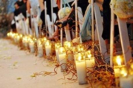 Here Is the Church and Here Is the Steeple... :  wedding charleston decor Wedding Aisle Candles