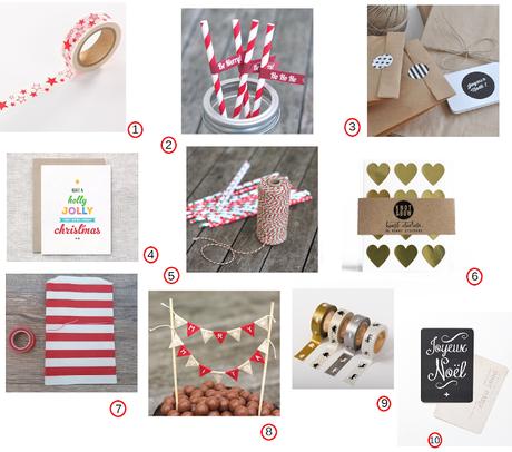 shopping et idees creatives pour noel paperblog. Black Bedroom Furniture Sets. Home Design Ideas