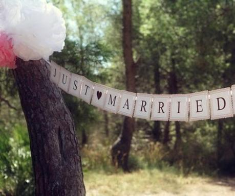 Ma Guirlande de mariage Just Married