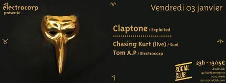 5x2 places - Electrocorp présente Claptone, Chasing Kurt & Tom A.P au Social Club