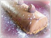 Bûche façon cheesecake chocolat, truffe chocolat spéculoos