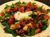 Salade gésiers oeuf poché