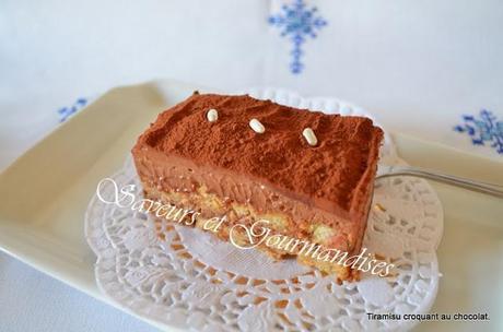 Tiramisu Croquant au Chocolat.