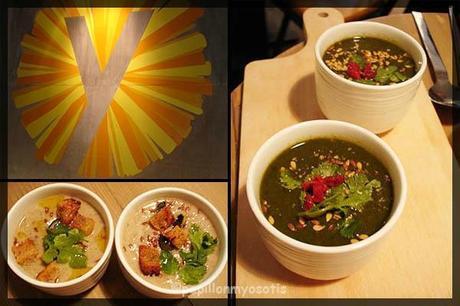 Velouté de champignons & Soupe de cresson