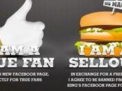 vous testiez fidélité fans Facebook Burger King fait