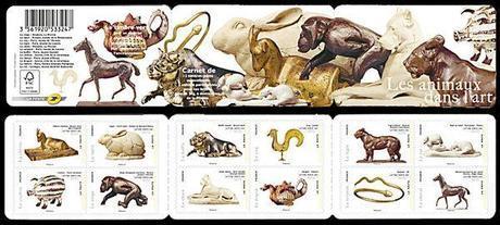 Carnet-de-timbres-animaux-dans-Art-2013