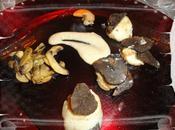 Saint-jacques truffees, sauce corail