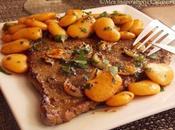 Steak {recette rapide saine} l'ail haricots blancs sautees