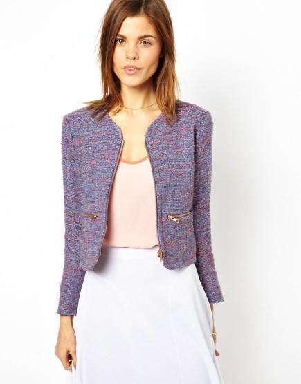 soldes janvier asos blouson tweed french connection