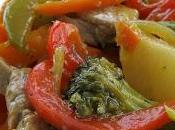 Sauté porc légumes cari