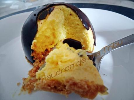mousse de mandarine en coque de chocolat 023