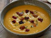 Soupe réconfortante courge butternut pois chiches chorizo