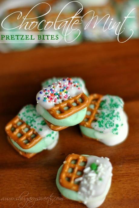 Chocolate Mint Pretzel Bites