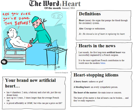 The Word of the Month (JANUARY 2014) : Heart
