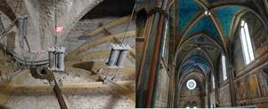 Renforcement par suspension de la voûte de la Basilique d'Assise