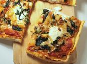Pizza pommes terre, oignons, épinards beaufort