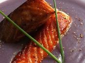 Aujourd'hui, j'ai testé –saumon croustillant soupe chou-fleur vitelotte