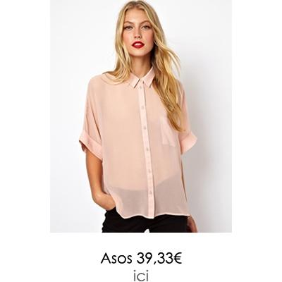 chemisier rose asos