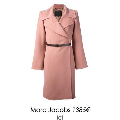manteau rose marc jacobs