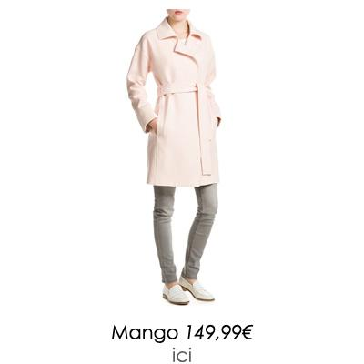 manteau rose mango