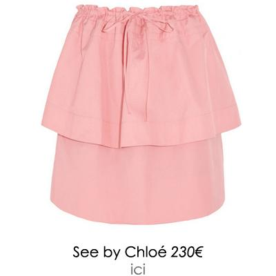jupe a volants see by chloe