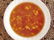 soupe tomates avec courge spaghetti...encore sans matière grasse