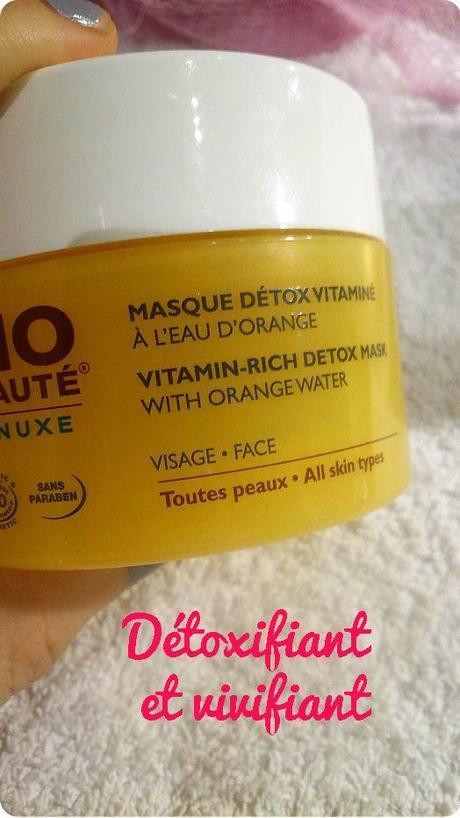 Un moment de beauté avec le masque Détox Vitaminé de Bio Beauté by Nuxe