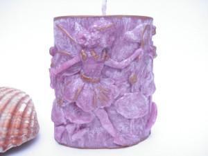 bougie 3d petite fée violette 3