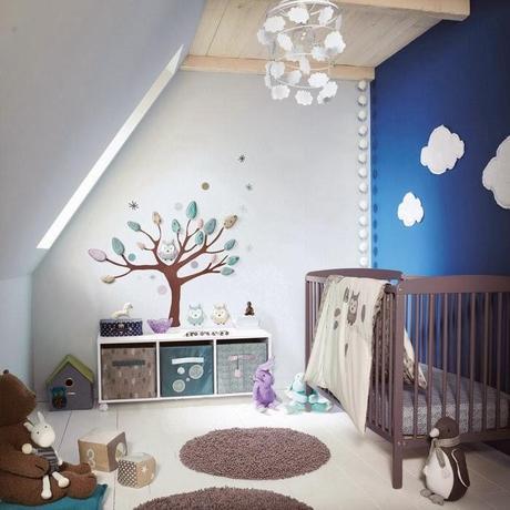 Chambre bébé garçon bleue - Paperblog