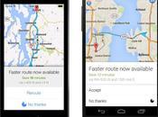Google Maps pour iPhone Android vous prévient lorsqu'il itinéraire plus rapide