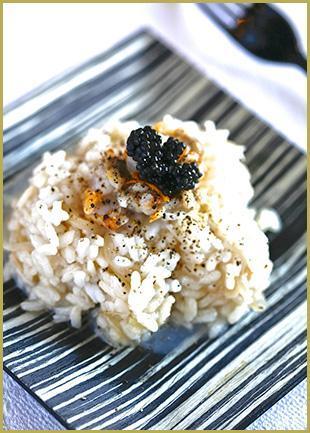 recette risotto au corail d'oursin