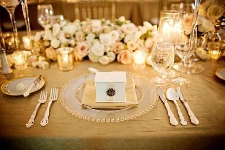 Idée de décoration de mariage or