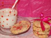 Cookies pralines roses chocolat blanc Valentin}