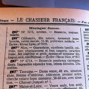 Bienvenue sur Brindamour, le site de rencontres du Chasseur Francais