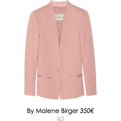 veste rose by malene birger