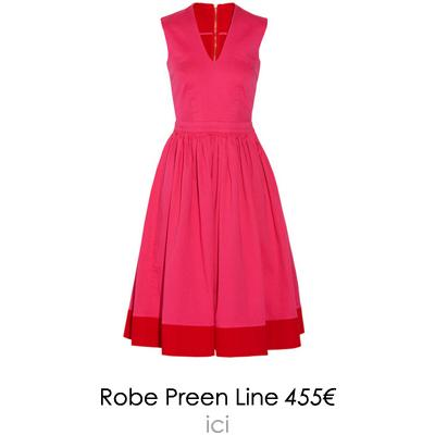 robe colorblock preen line