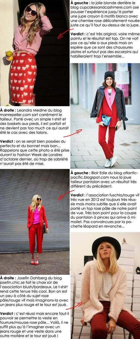 Comment porter du rose et du rouge ensemble ?