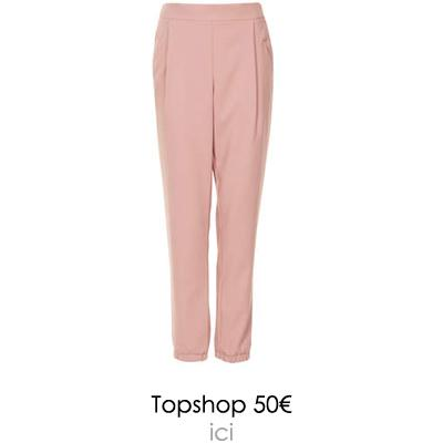 pantalon rose topshop